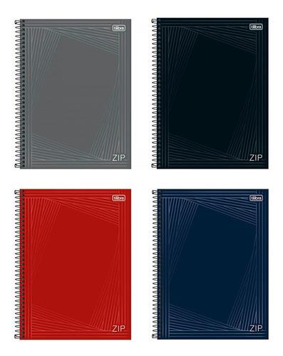 Imagem 1 de 5 de Kit 4 Cadernos 1 Matéria 80 Fls Zip Tilibra