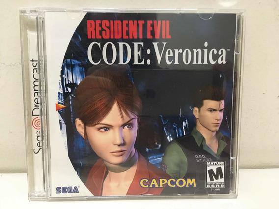 Resident Evil Code Veronica Sega Dreamcast Perfeito Coleção