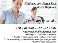 Fiador Finca Raiz, Cesantias, Codeudores, Bogota.