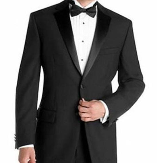 Smoking Novio Casamiento Solapa Raso Incluye Saco Y Pantalon