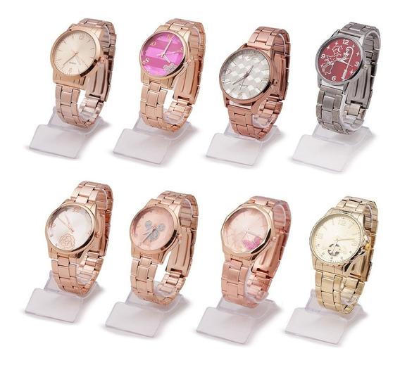 Kit 10 Relógios Feminino Da Moda Modelos Atacado E Revenda
