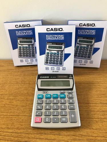 Calculadora De Mesa Casio Js-818v 8 Digitos Bateria Y Solar