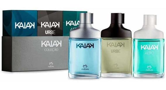 Presente Kaiak Miniaturas Masculino 25 Ml Cada + Brinde