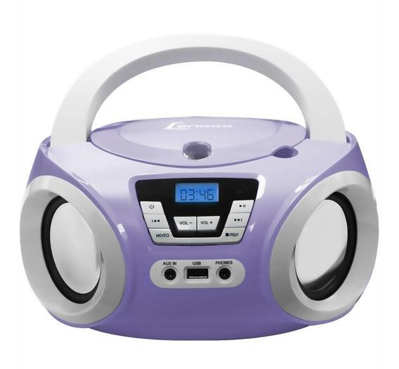 Boombox Lenoxx Bd121 C/usb Rádio Fm Mp3 Cd Player E Ent. Aux