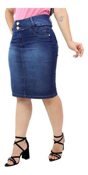 1 Saia Jeans Moda Evangélica Vários Modelos Escolha A Sua