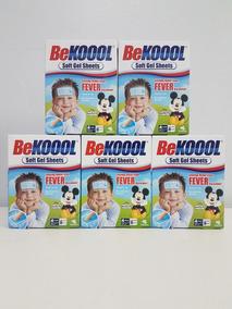 Kit 05 Be Kool Koool Soft Gel Kids Adesivo Para Febre