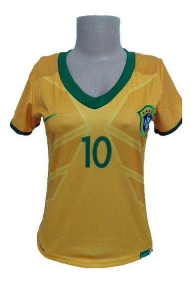 Mini Camiseta Baby Look Camisa Corinthians E Brasil Neymar
