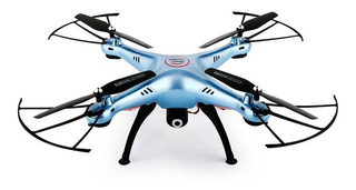 Dron Con Cámara Wifi X5hw Azul Syma