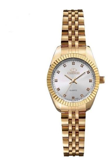 Relógio Feminino De Aço Dourado Com Frete Gratis Barato
