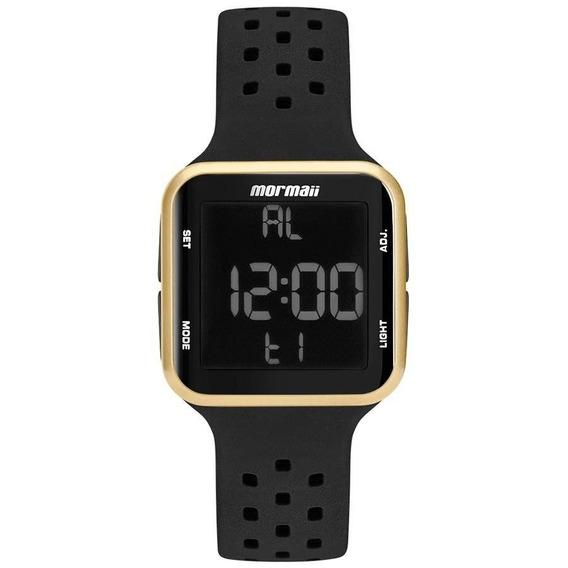 Relógio Mormaii Digital Wave Mo6600/8d Preto / Dourado C/ Nf