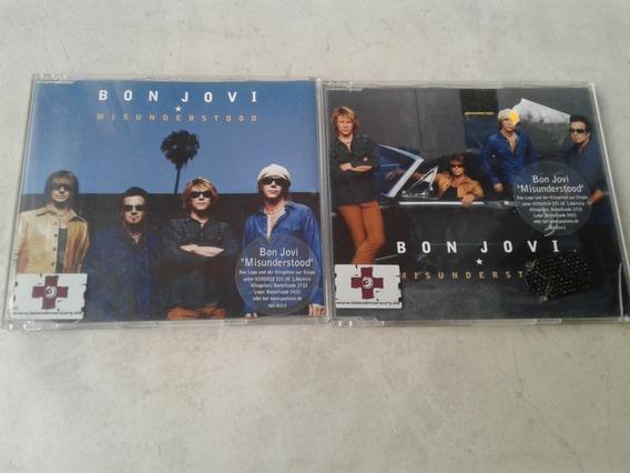 Bon Jovi - Lote Misunderstood 2 Cds Singles Alemania