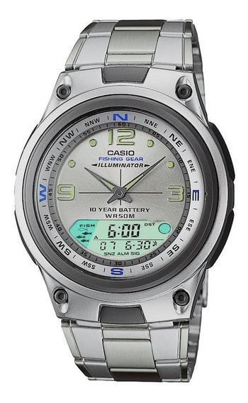 Relógio Casio Aw-82 D Fishing Gear Pesca Fases Lua Alarmes B