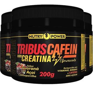 Kit C/ 3 Pré Treino Apisnutri - Tribus Cafein 200g
