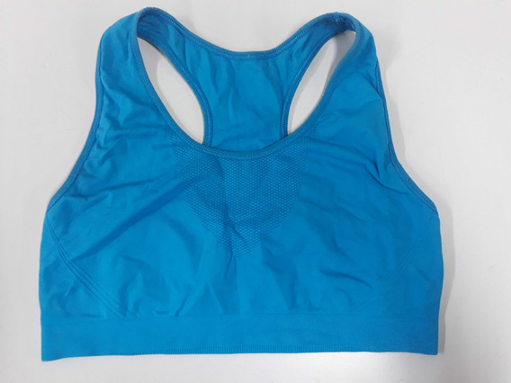 Top Deportivo Mujer Turquesa Talle L Lycra