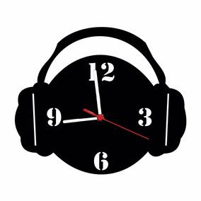 Relógio De Parede Decorativo - Modelo Fone De Ouvido