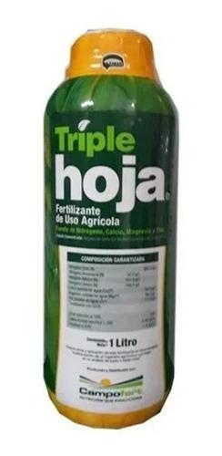 Fertilizante Triple Hojas X 1 Litro Recuperador De Follaje