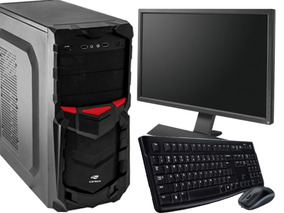 Computador Pc Cpu Core 2 Duo Ssd 120gb 4gb Ram C/ Monitor 17