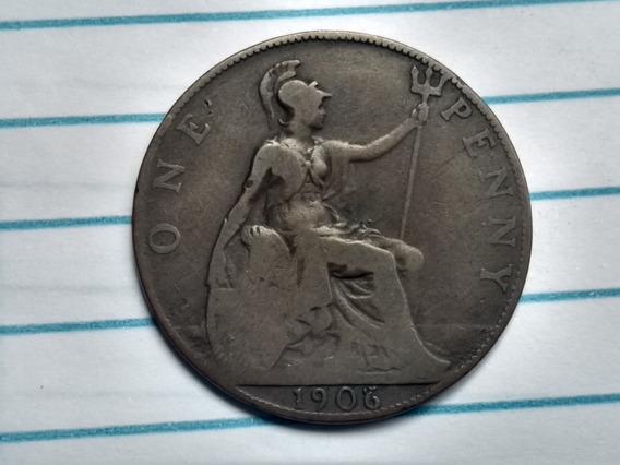 País: Reino Unido 1906. One Penny. Elimatec Moedas Antigas.