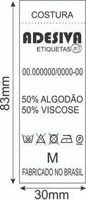 1.000 Etiquetas Composição Nylon Resinado Personalizadas