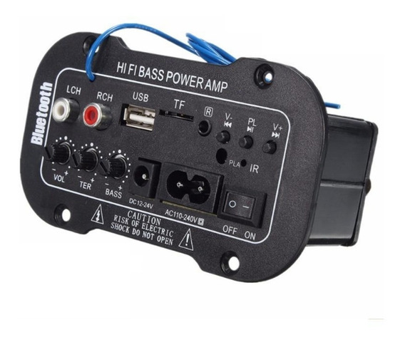 Placa Amplificada Decodificador Bluetooth Usb Mp3 P2 3,5mm
