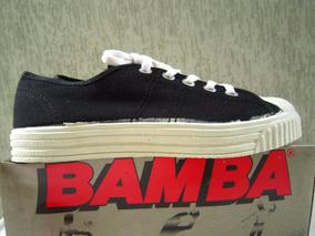 Bamba Original Novo, Vintage, Preto / Banco, Novas Fotos!