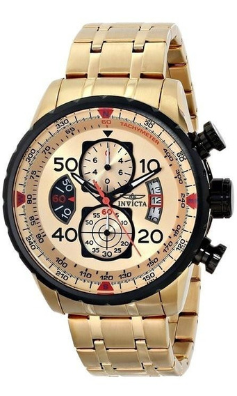 Relógio Invicta Aviator 17025 - Ouro 18k - Original