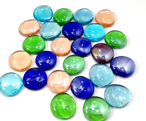 Gemas Grandes De Vidrio  Bolsa De 25 Unidades Multicolor