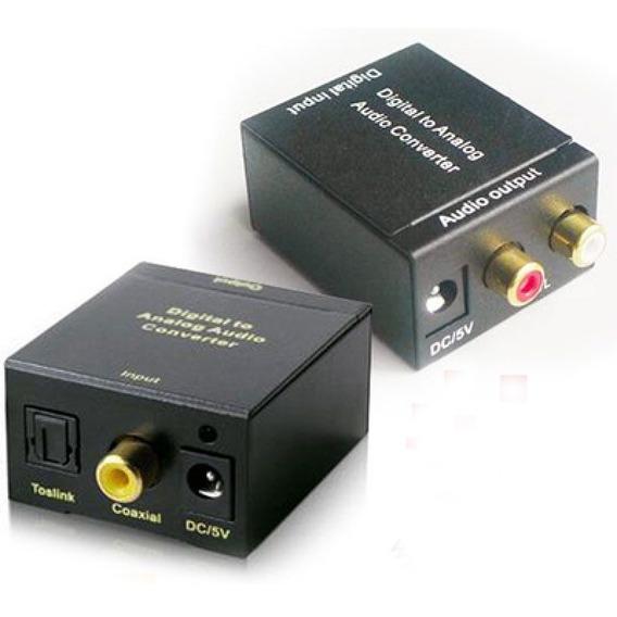Conversor Óptico Coaxial Digital Para Som Analógico Saida Rc