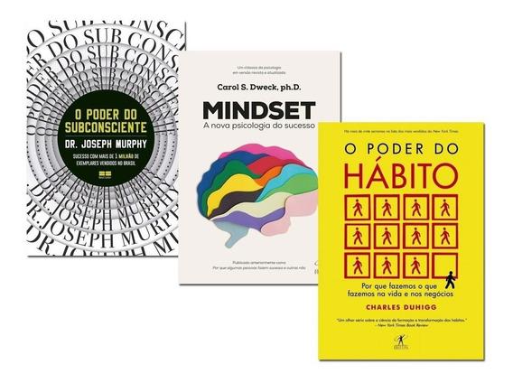 Livro O Poder Do Subconsciente + O Poder Do Habito + Mindset