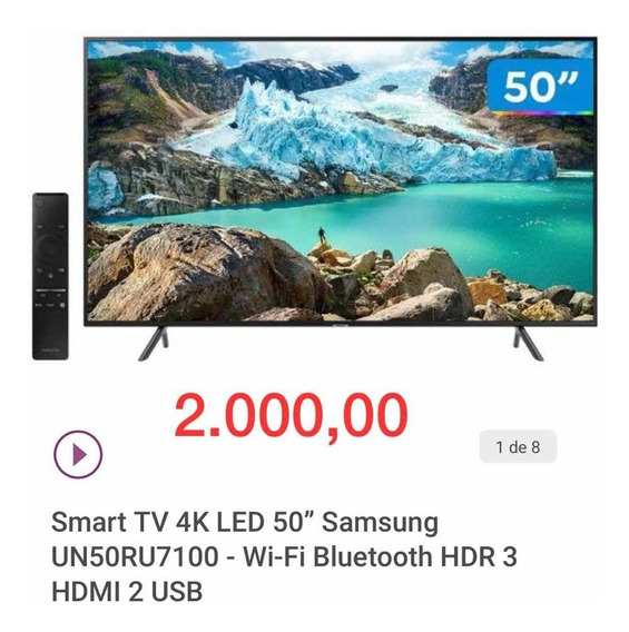 Smart Tv 4k Led 50 Samsung Wi-fi Bluetooth