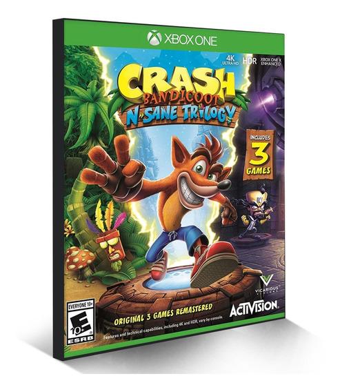 Crash Bandicoot N Sane Trilogy Xbox One Jogue Online Digital