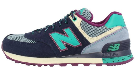 New Balance 574 Navy Purple