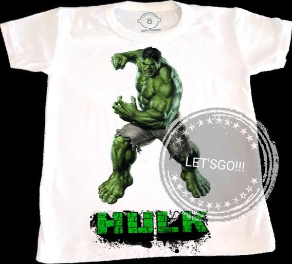 Hulk Remera Manga Corta Superheroes