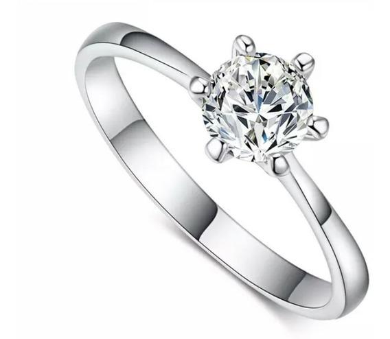 Anel Solitario Feminino .noivado Casamento Namoro + Caixinha
