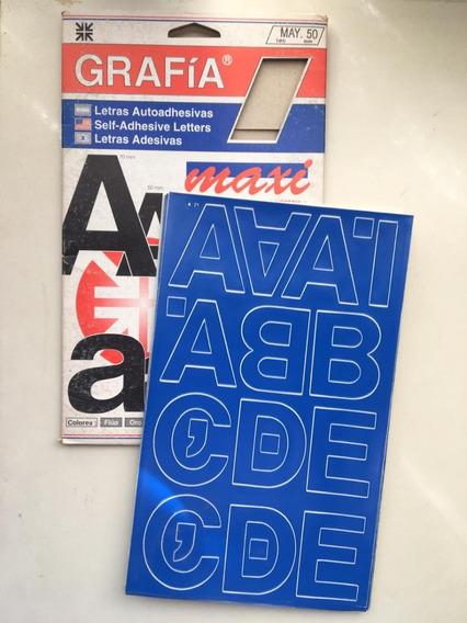 Letras Auto-adhesivas 50 Mm Y 70 Mm X Caja