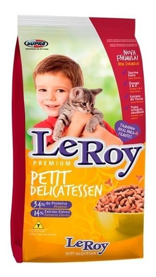 Ração Premium Leroy Petit Delicatessen Gatos Filhotes 10, Kg