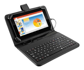 Tablet Com Teclado Multilaser M7s Quad Core 8gb 7pol Preto