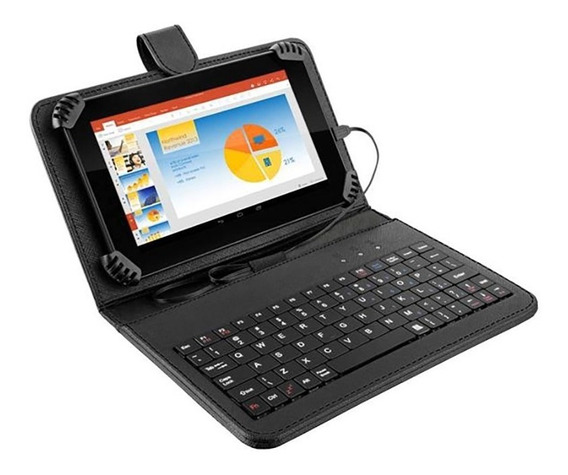 Tablet Com Teclado Multilaser M7s Quad Core 8gb 7pol Preto