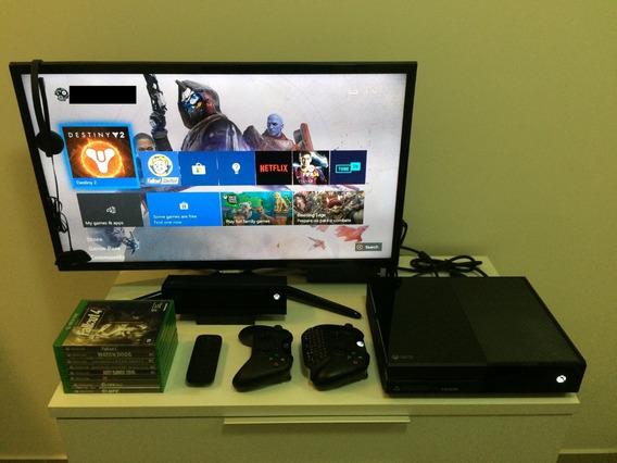 Xbox One 500gb + 2 Controles + Kinect + Acessorios + 8 Jogos