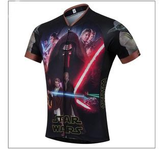 Camisa Camiseta Star Wars Darth Ciclista Ciclismo Bicicleta