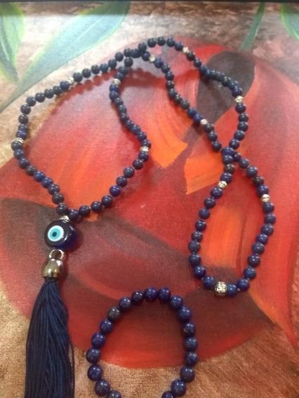 Japamala Lápis Lazuli 108 Contas 8 + Pulseira