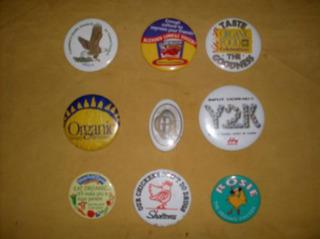 Pins-botón Diversos Motivos Ecológicos Lote De 10 Unidades