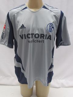 Camisa De Futebol Schalke 04 #9 Larsen Patch Bundes Liga