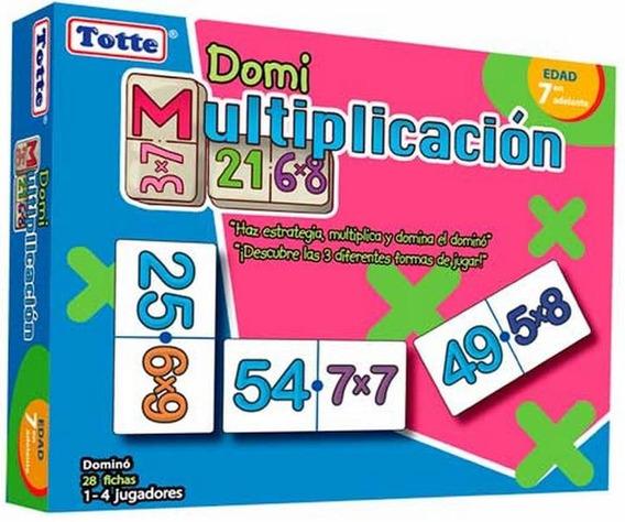 T057 Domino Multiplicación Didáctico Niños 28 Piezas Totte