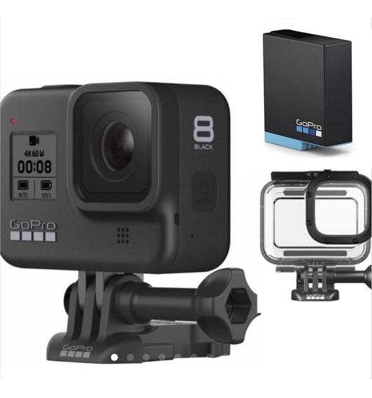 Câmera Gopro Hero 8 Black + Bat Extra+caixa Estanque