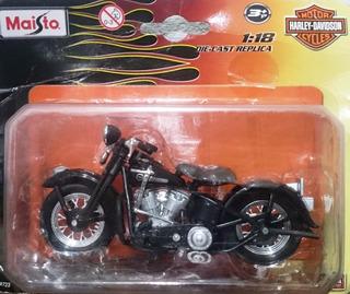 Miniatura Harley Davidson Panhead 1:18 + Poster - Maisto