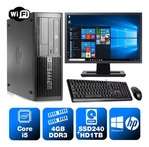 Imagem 1 de 5 de Desktop Estudo Hp Compaq Sff I5 2g 4gb Ssd240+1tb Mon19w