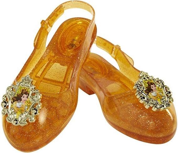 Zapatos De Disney Bella De Gelatina Con Luz 14 A 16 Cm