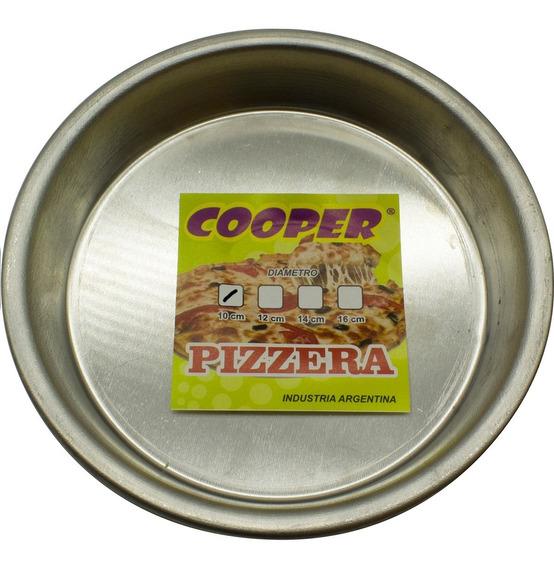 Pizzera Molde Para Pizza Aluminio 10cm Diametro X 2cm Alto