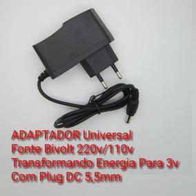Fonte Adaptador Universal Bivolt 220v/110v Dc 3v